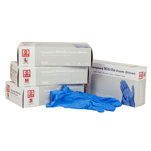 Nitrile Exam Gloves, powder free, 100 per box