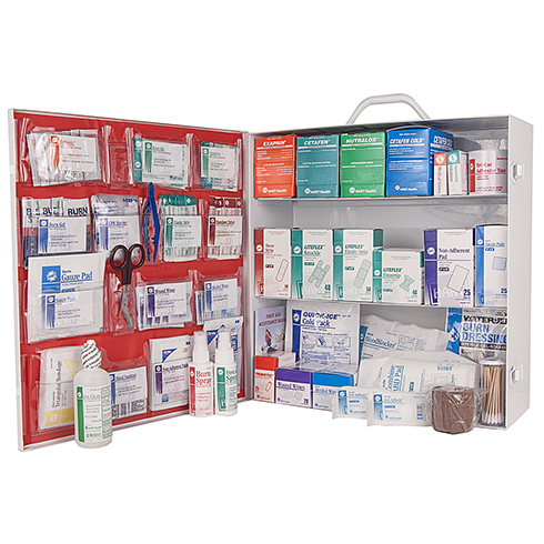 First Aid Station, HART, ANSI 2015 Class A, 3 shelf, stocked
