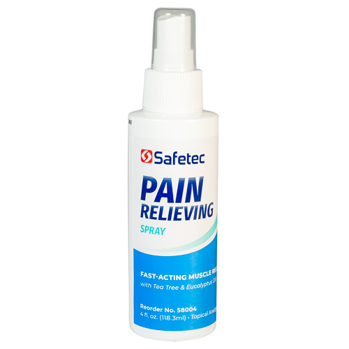 Pain Relieving Spray, Safetec, muscle pain relief, 4 oz spray