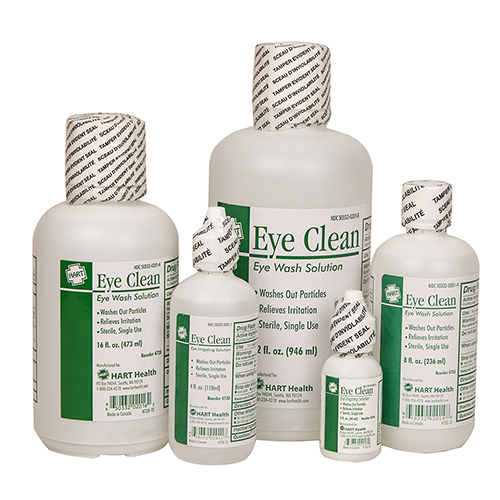 Eye Clean, HART, irrigating solution, sterile, bottles